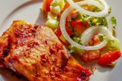 Slow-Roasted Salmon with Huckleberry Barbecue Sauce