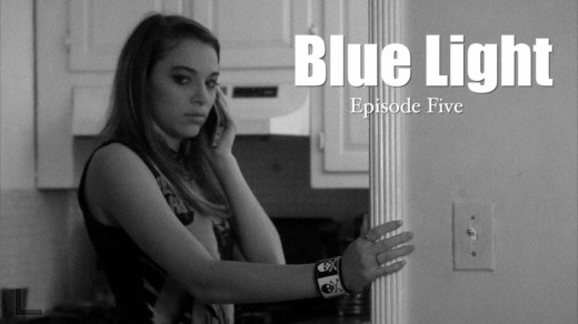 Brooke Silvius as Mara in Blue Light - the web series, who is seen as a ghost by the protagonist, Mildred.