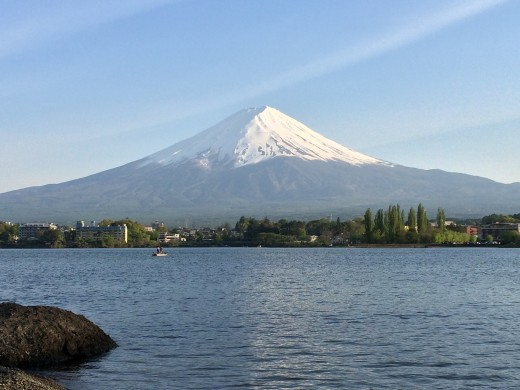 Mount Fuji from the shores Lake Kawaguchiko.