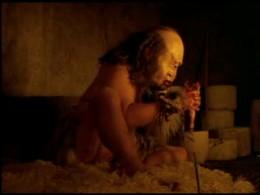 Polyphemus chewed off the head of Odysseus' man...eew!