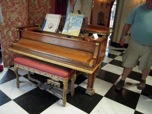 A Piano in The Cà d'Zan, Sarasota, Florida, USA