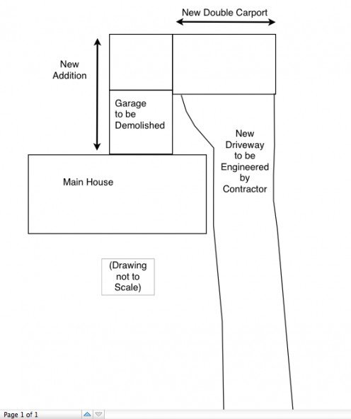 A simple sketch of your driveway plans can help you decide what kind of surfacing you want to use.