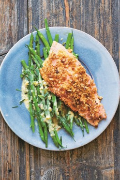 Oat-Crusted Trout with Brown Butter, Dried Cranberries and Pecans