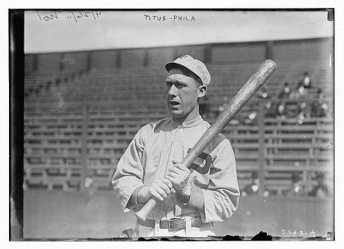 John Titus, Philadelphia, NL baseball 1911. Ladies and gentlemen: This man is NOT Kenneth Avery or any of my ancestors.