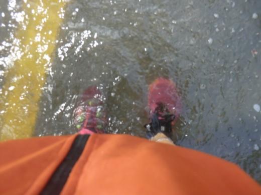 I had never expected a flash flood in Savannah