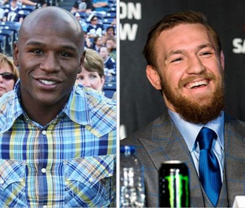 Mayweather (left) and McGregor (right).