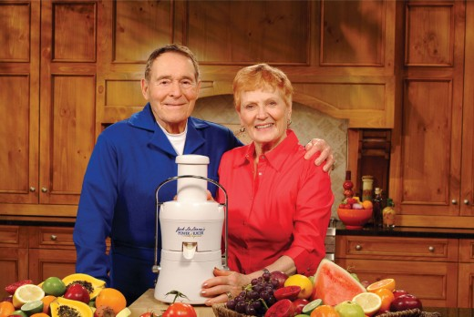 Jack and Elaine with their newest juicer The Power Juicer