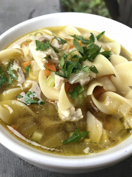 Nothing is better than fresh, homemade chicken noodle soup. Rich, hearty and just plain good, it hits the spot on a chilly day.
