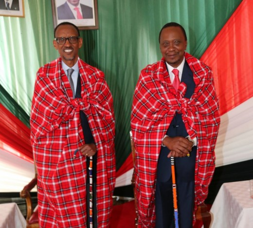 Culture shock à la table cloth, or Maasai fashion as Kenyans call it