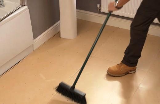 Sweep your floor or vacuum it.