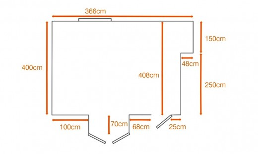 Measure and record the length and the width of the room.