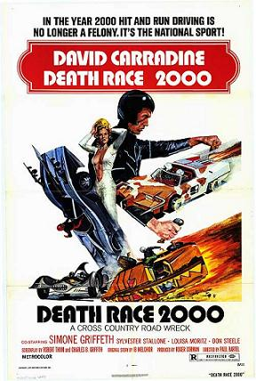 "Movie poster for ""Death Race 2000""."