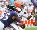 Ravens capitalize on Kizer's 4 turnovers. Baltimore beats Cleveland 24-10