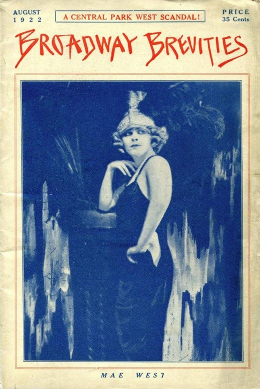 The famous Mae West was the feature of the cover of that same magazine.