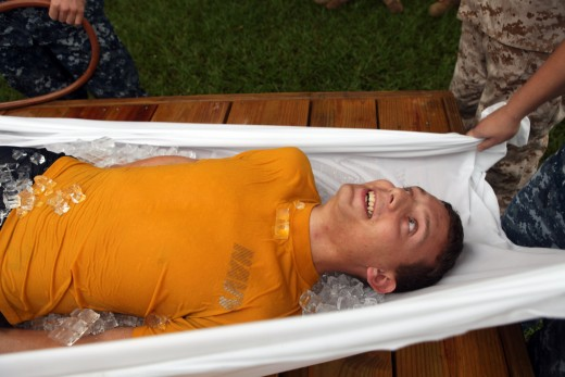 Emergency cooling method used for the treatment of heat stroke