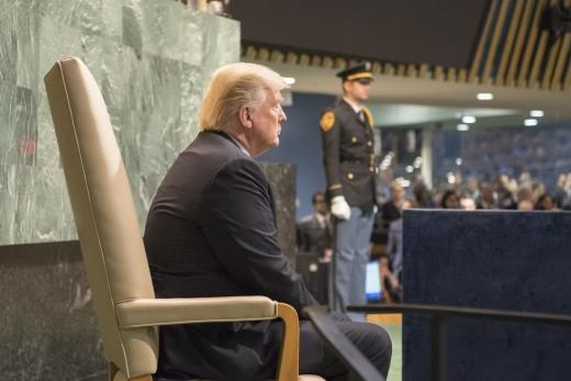 Trump awaits to make speech