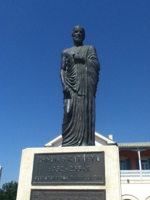 Statue of Zeno in Larnaca
