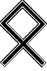 The Othala rune. One of the many pagan symbols white supremacists have used.