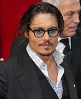 Johnny Depp at the Paris opening of Public Enemies