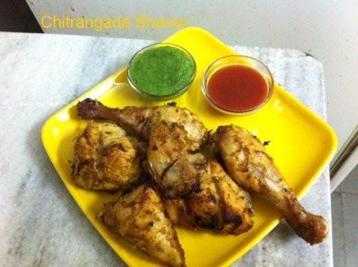 Home grilled chicken