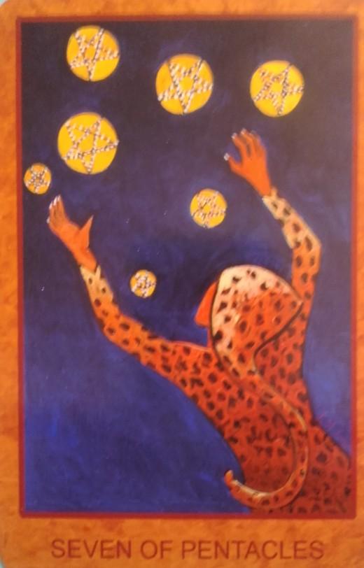 7 Pentacles Tarot Card