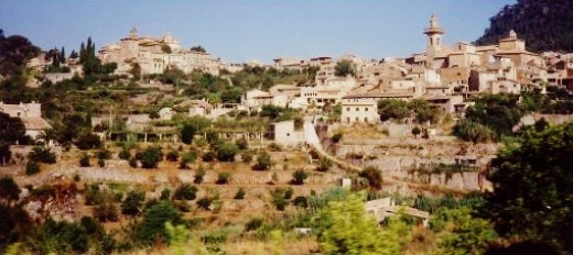 Valldemossa photo from moving bus tour