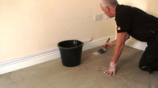 Seal the surface with a diluted PVA adhesive mix or suitable acrylic primer.