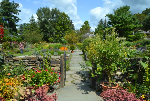 The Cornell Botanic Gardens offer a convenient getaway in good weather.