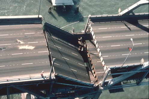 Severe damage to the Bay Bridge was overplayed in the media