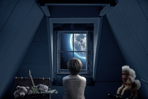 Dreams of the attic may reflect childhood or past influences.