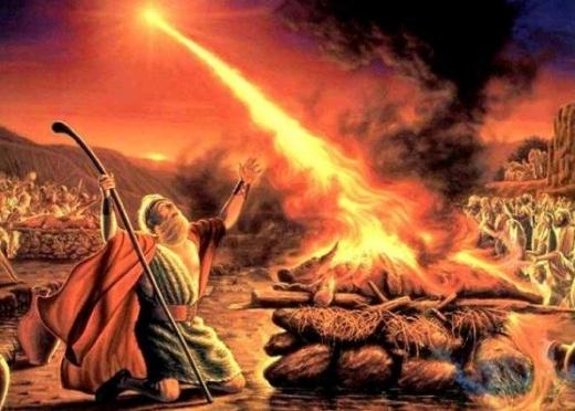 Elijah the prophet on Mount Carmel.