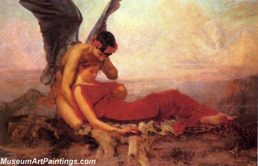 In Greek mythology Morpheus is the god of dreams and visions. He is depicted on the left with wings.