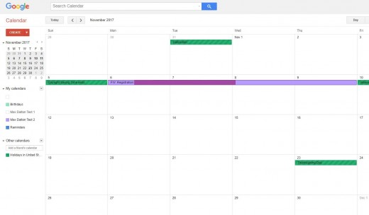 You'll now see your events from your Outlook calendar appearing in your Google calendar.