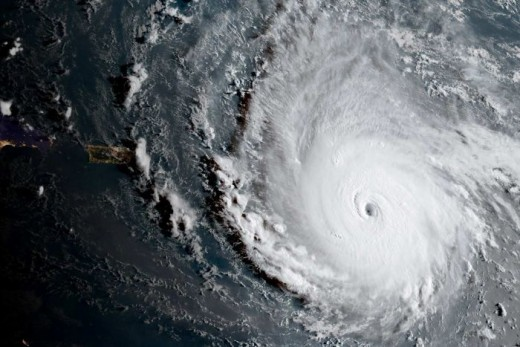 This is a pecture of Hurricane Irma that went through Puerto Rico, and many other Island in the Pacific Ocean, ending up in USA.