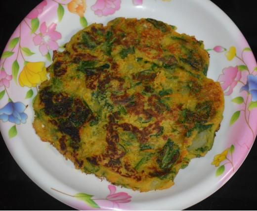 Savory vegetable pancake