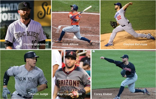 There are many strong candidates for baseball's post-season awards for 2017.