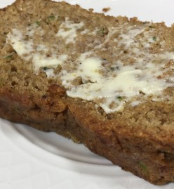 Garden Zucchini Bread: Vegan, Whole-Grain, Low-Sodium, and optionally, Gluten-Free