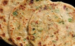 Paneer and Mixed Vegetable Paratha or Flatbread