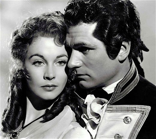 Vivien Leigh and Laurence Olivier in That Hamilton Woman.