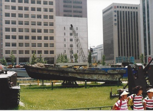 A North Korean speed boat captured in 1986.