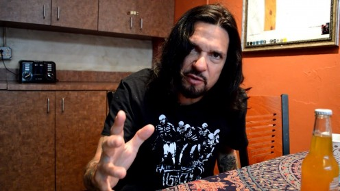 Guitarist, vocalist and founder of the band Prong Tommy Victor is seen here during a 2017 interview.
