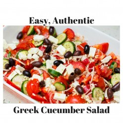 Easy, Delicious & Healthy-Authentic Greek Cucumber Salad Recipe