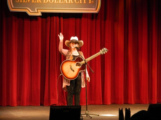 Belinda Gail onstage at Silver Dollar City