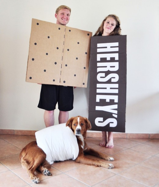 All you need is a graham cracker a Hershey bar and a marshmallow!  sc 1 st  HubPages : graham cracker costume  - Germanpascual.Com