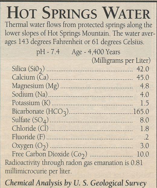 Taken from a newspaper clipping regarding Hot Springs, Arkansas