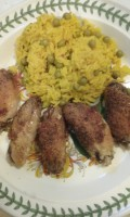 Very Nice Chicken and Rice , Prepared With Salt and Pepper Chicken Wingettes - a Simple Recipe