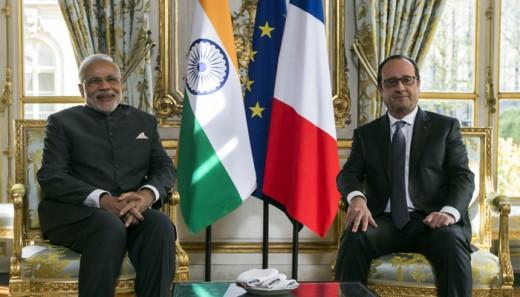 France President Hollande and Indian  Prime Minister Narendra Modi