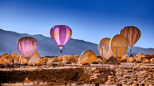 The International Hot Air Balloon Fiesta, held every October in Albuquerque (2020 event canceled due to COVID-19) draws visitors from around the world.  It is a sight to behold as hundreds of hot air balloons lift off in a mass ascension.