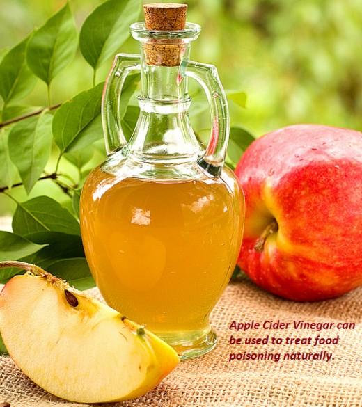 Apple Cider Vinegar handles the symptoms of food poisoning effectively.