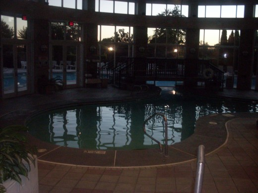 The indoor swimming pool at The Grandover Resort and Spa